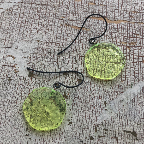 neon glass earrings
