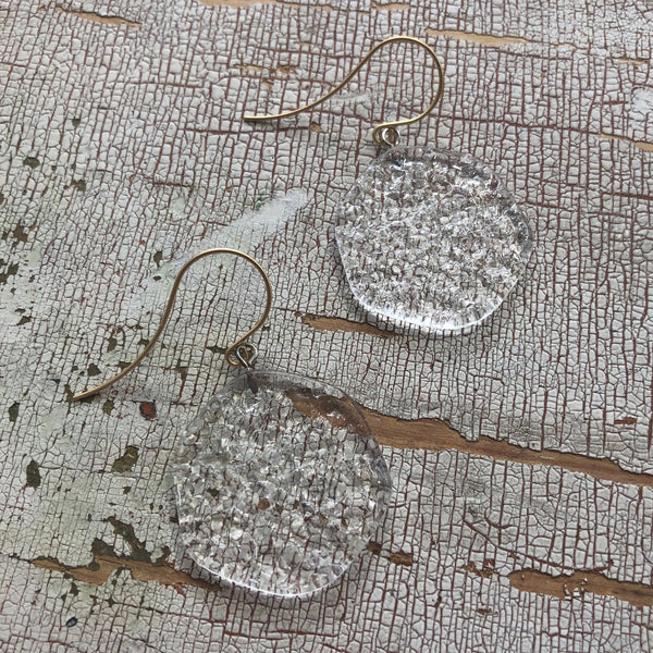 clear acrylic earrings