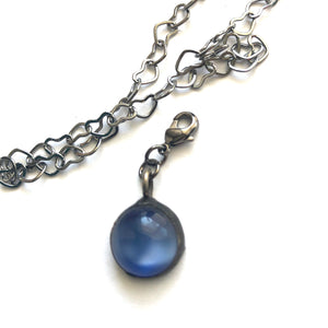 Blue Moonglow Charm- Add on to Layering Necklace - Counter Weight