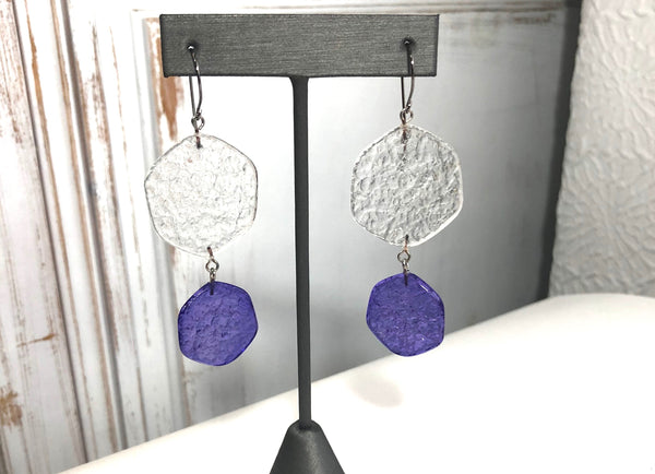 deep blue earrings