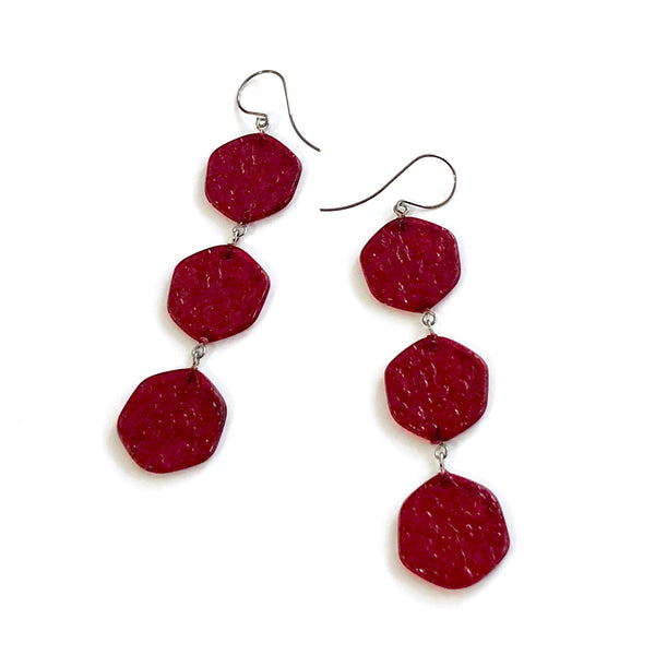long red lucite earrings