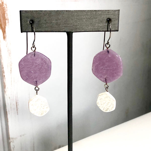 light purple earrings