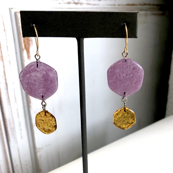amethyst brown earrings