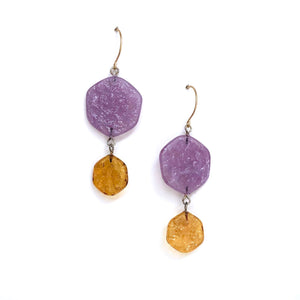 purple topaz earrings