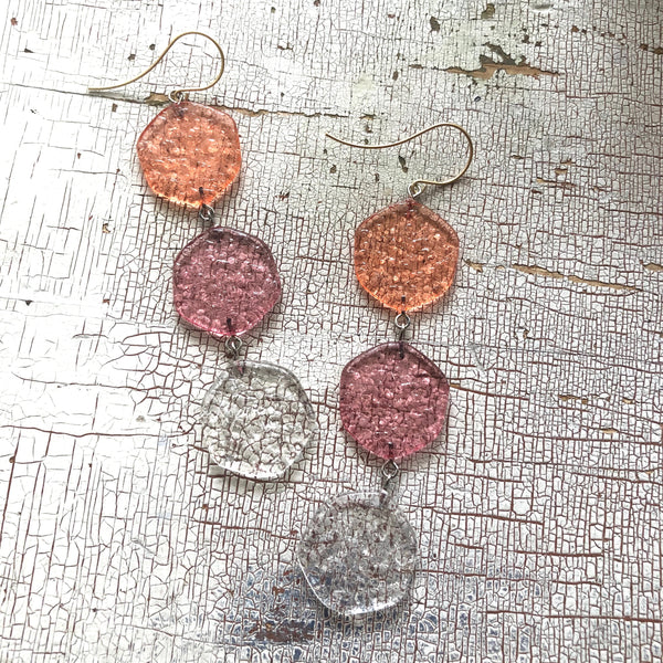 fruit drop earrings