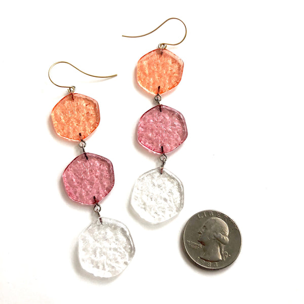 fruit stained glass earrings