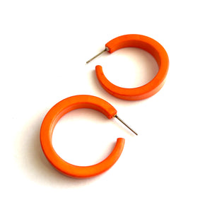 Orange Lola Hoop Earrings