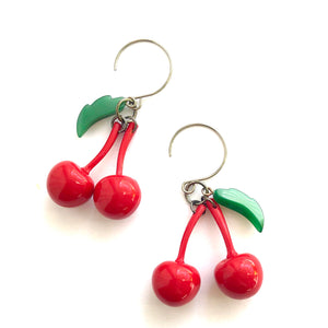 Cherry Bombshell Drop Earrings