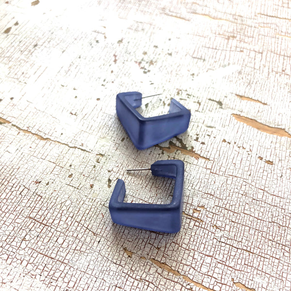 wide hoops square blue