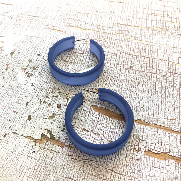big blue lucite hoops