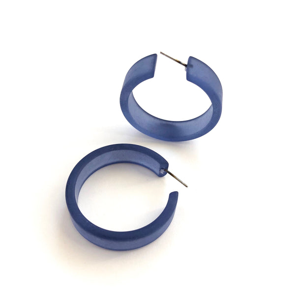 large frosted blue hoops