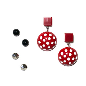 pinup girl earring set
