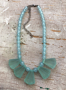 teal deco necklace