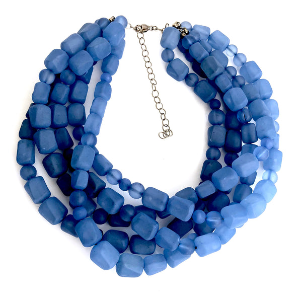 statement necklaces blue