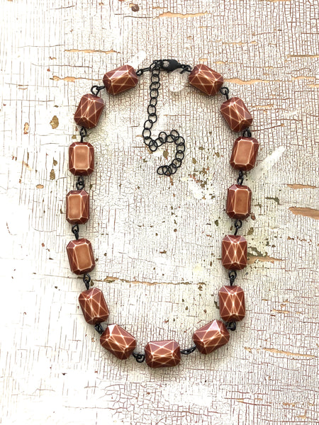 coffee brown necklace