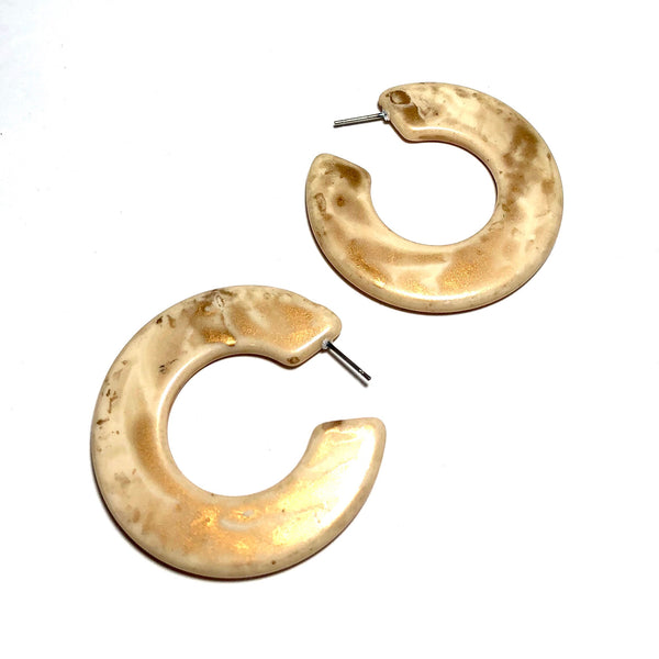 gold spattered earrings