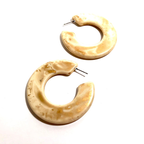 ivory twiggy earrings
