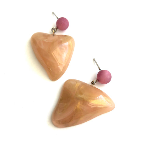 Peach Ahmee Earrings