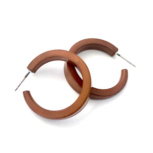Sandalwood Brown Wave Lola Hoop Earrings