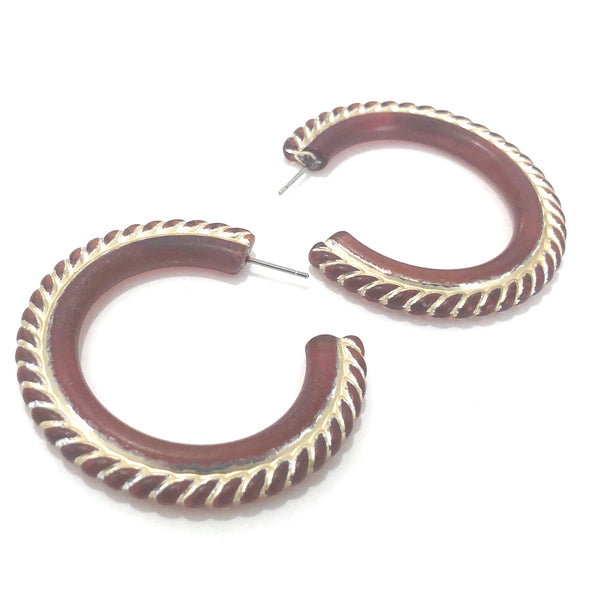 Amber Carnival Large Hoop Earrings