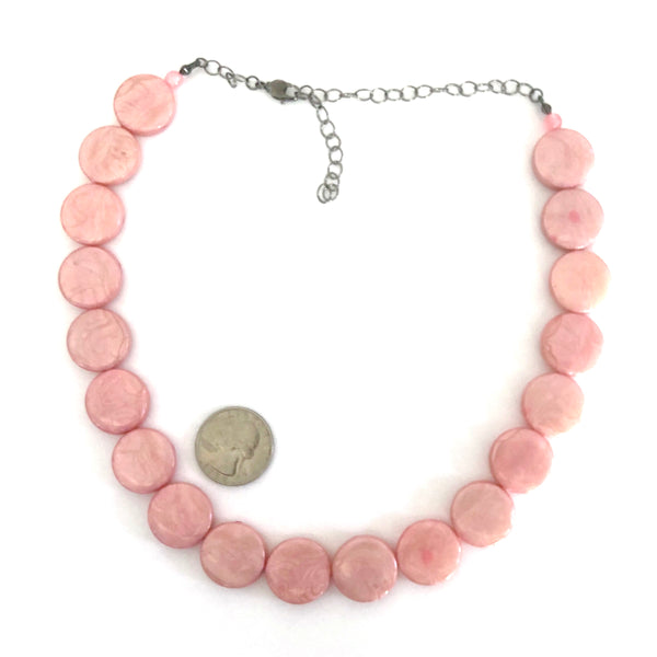pink marco necklace