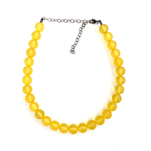 golden yellow necklace