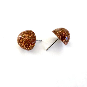 glitter gumdrop earrings