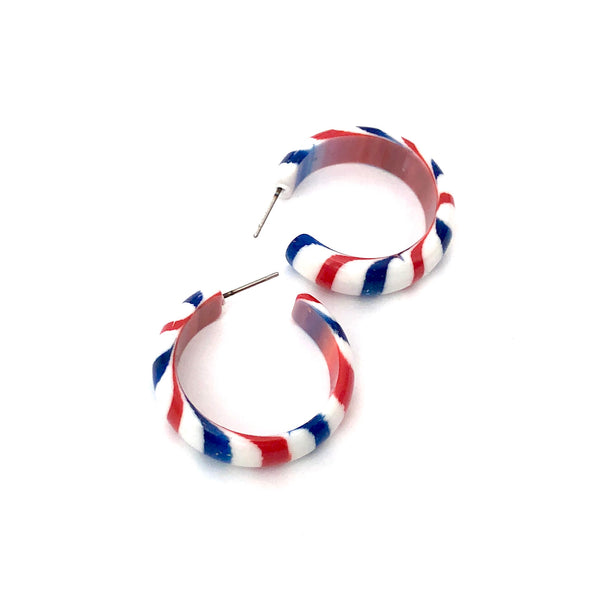 simple lucite hoops