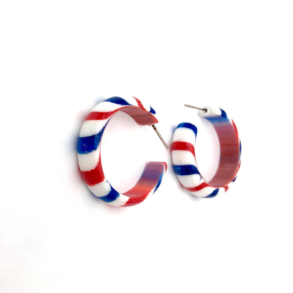 patriotic lucite earrings