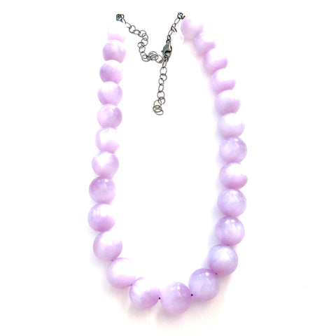 Lilac Moonglow Lucite Marco Necklace