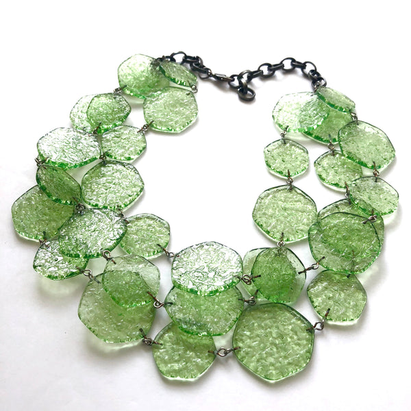 Apple Green 'Stained Glass' Ice Chip Necklace
