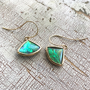 Butterfly Wing Aurora Borealis 'Mermaid Tears' Drop Earrings