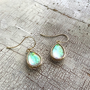 Clear Aurora Borealis 'Mermaid Tears' Drop Earrings