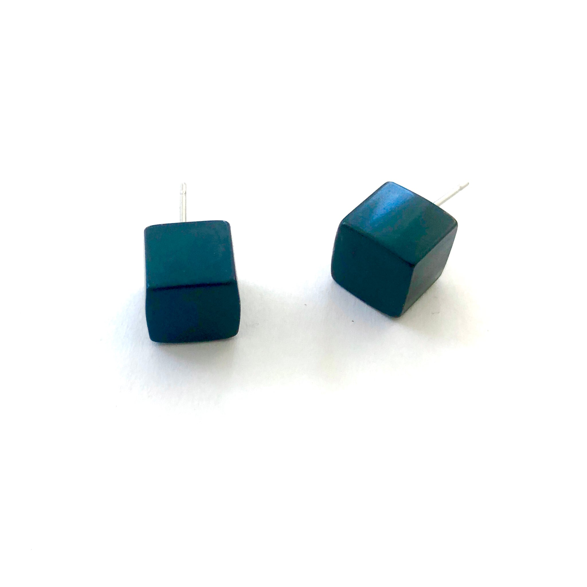 evergreen cube earrings