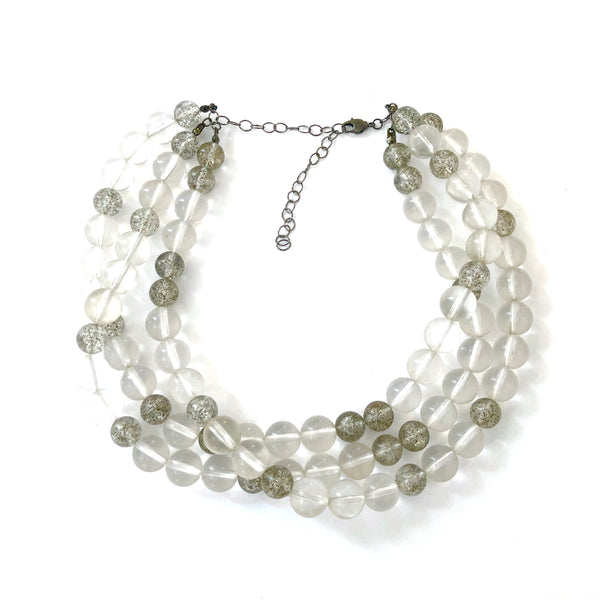 clear necklace beaded