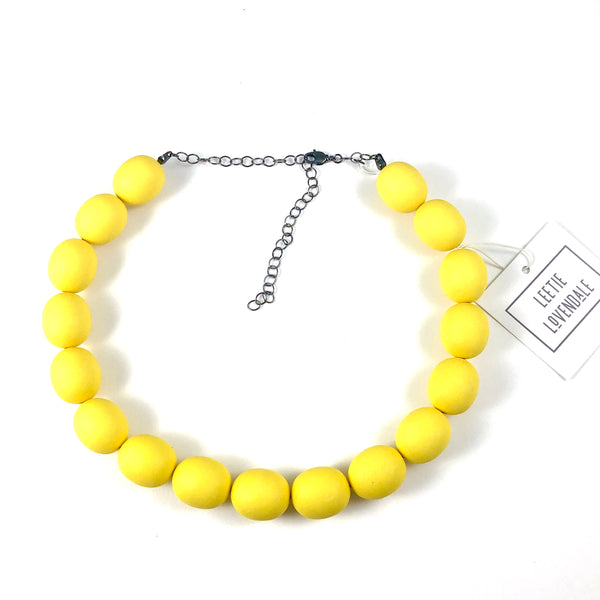 yellow lucite necklace
