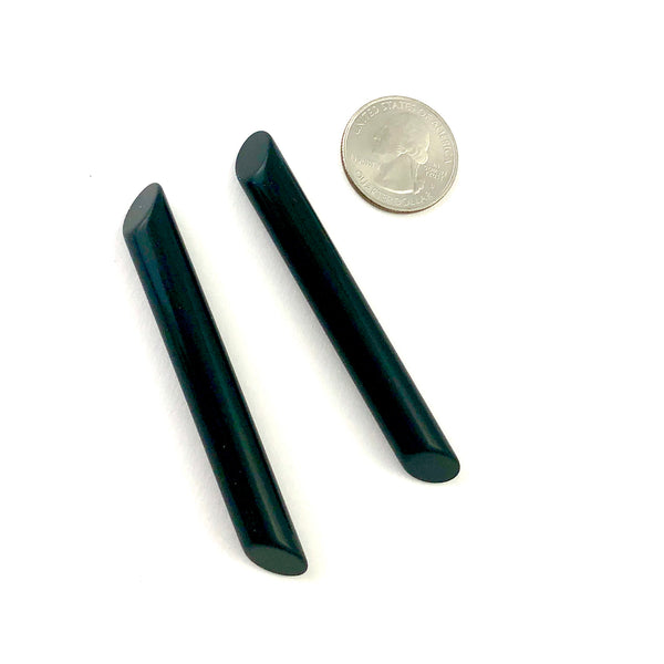Black Medium Couture Stick Stud Earrings