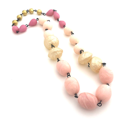 rosary necklace lucite
