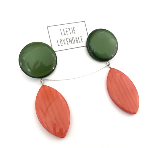 evergreen moonglow  earrings