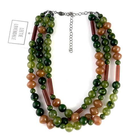 moss green tortoise necklace