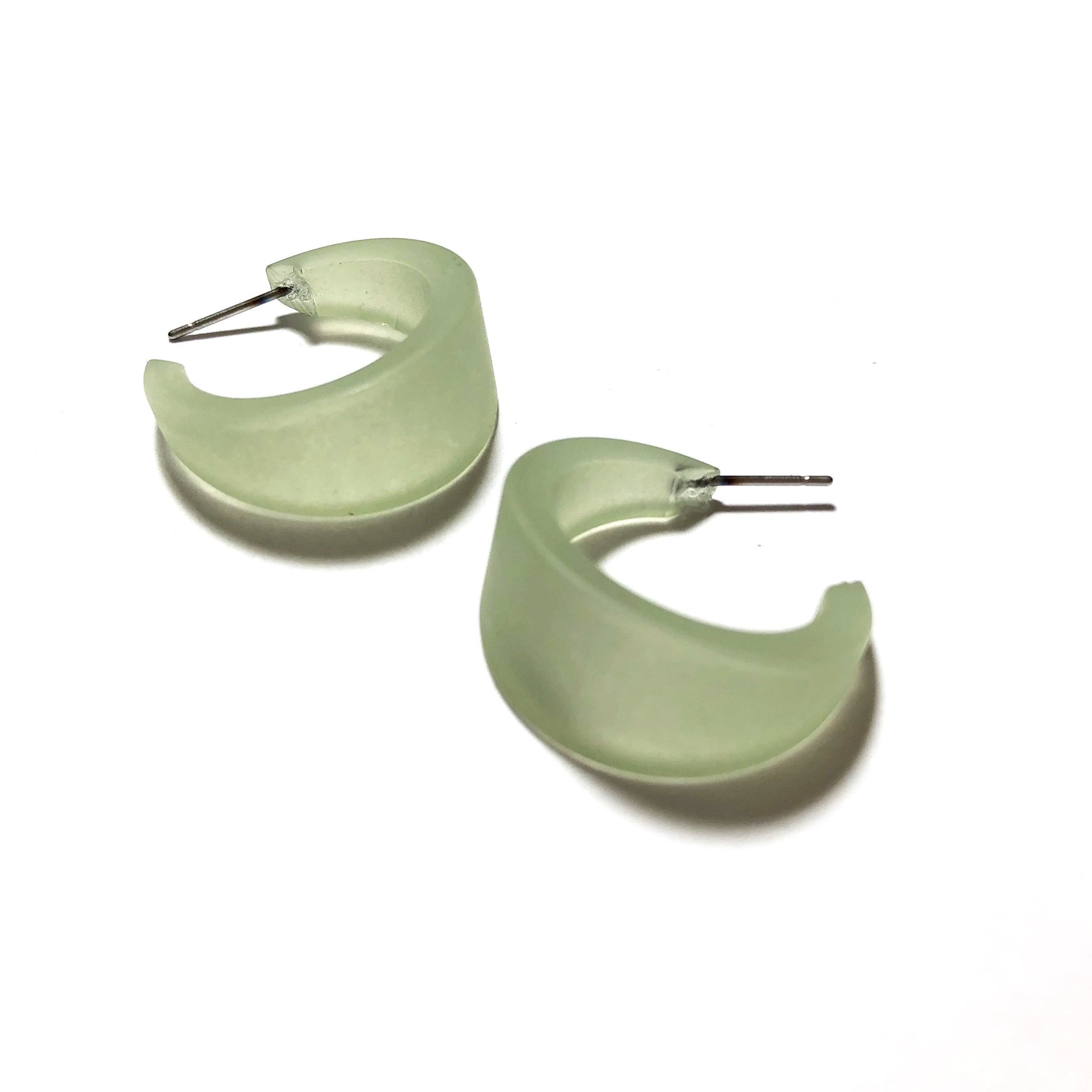light green hoop earrings