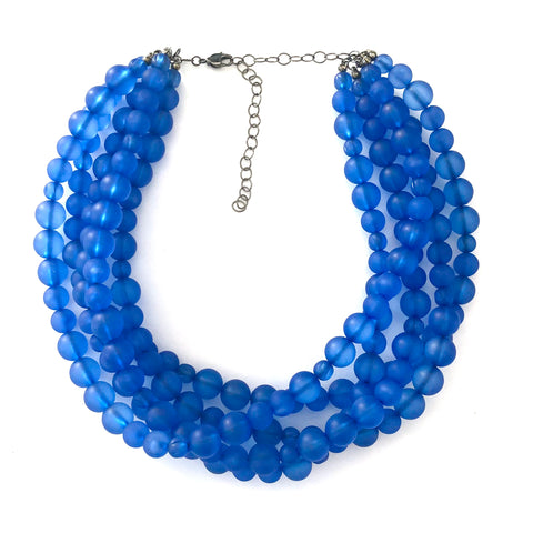 Sapphire Frosted Sylvie Statement Necklace