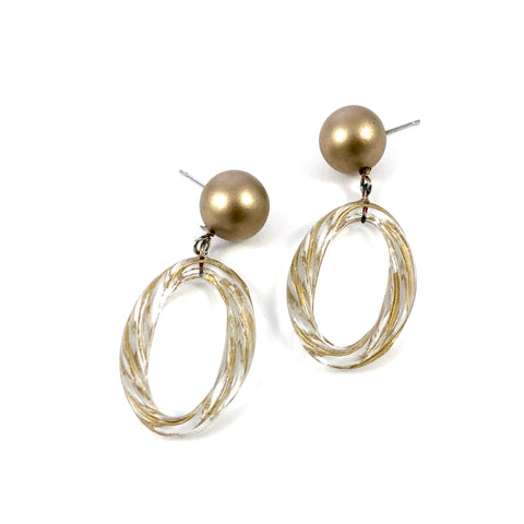 frosted gold earrings