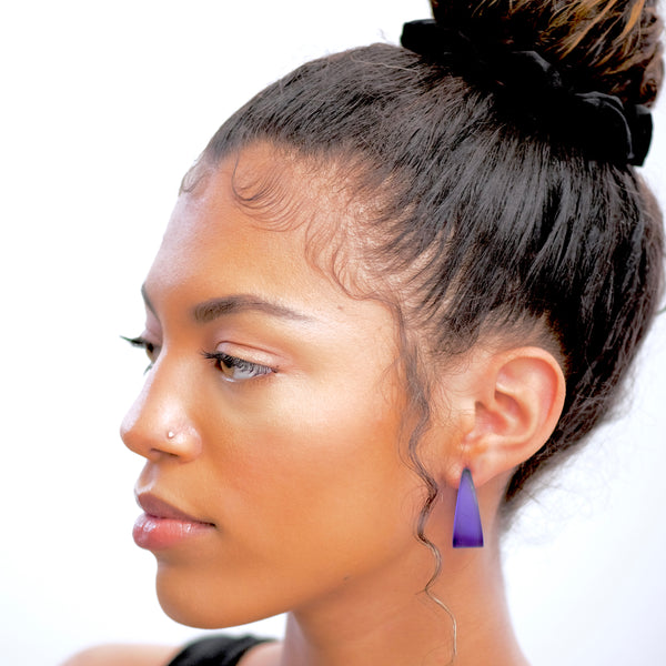 tapered lucite hoops