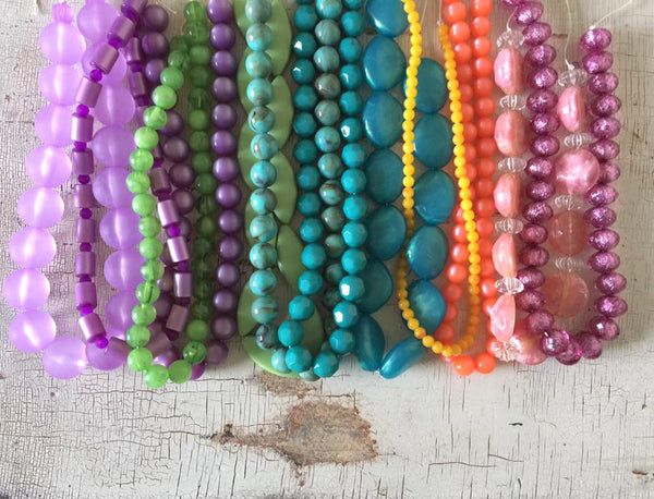 colorful beaded necklaces