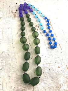 green blue rope necklace