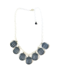 nautical navy necklace