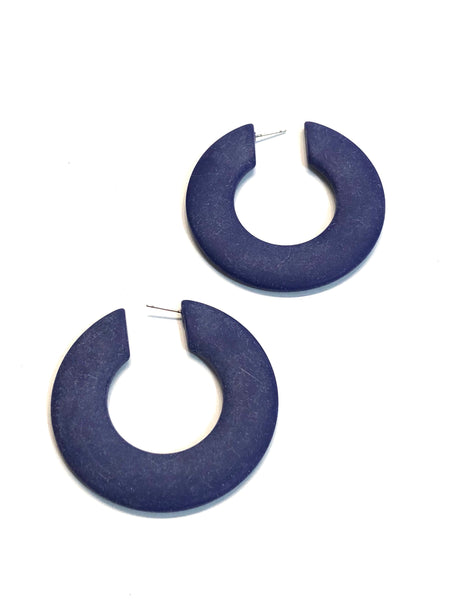 navy blue huge hoops