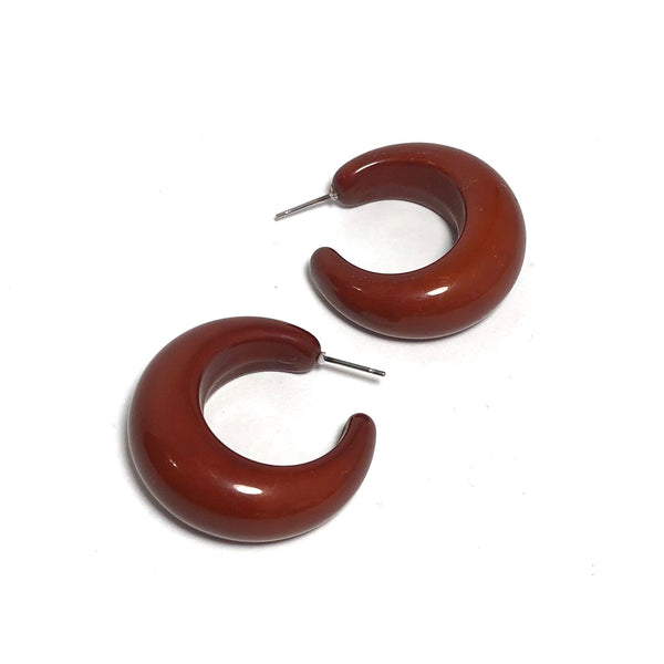 brown hoops lucite