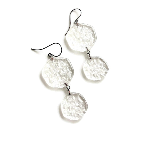 clear lucite drop earrings